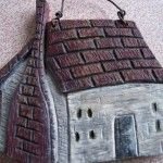 Wood Carved Primitive House - Kenneth's Art Gallery