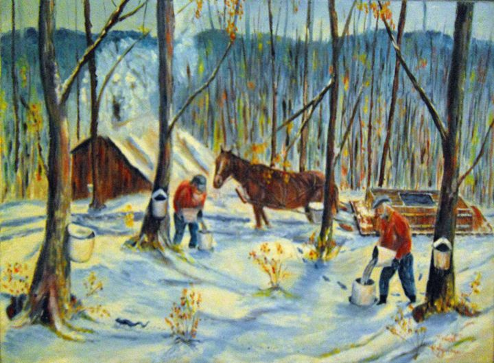 Collecting Maple Syrup - Robert Rombeiro