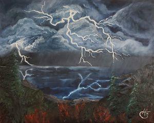 Stormy Lake Shore
