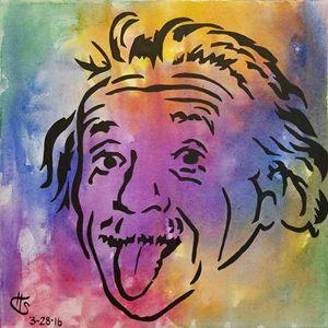 Einstein tie-dye