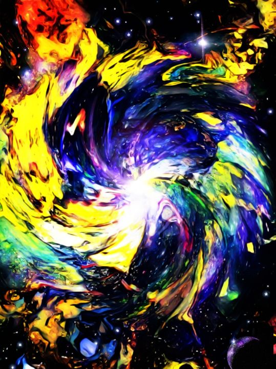 Galactic Spin - Abstract Art By Magnus