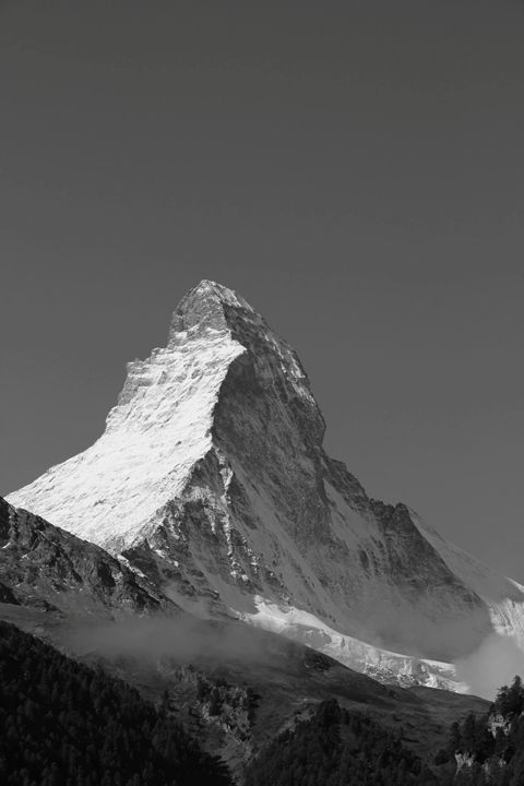 The Matterhorn in Black & White - Mark S Fine Art