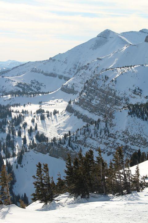 Snowy Peaks - Mark S Fine Art