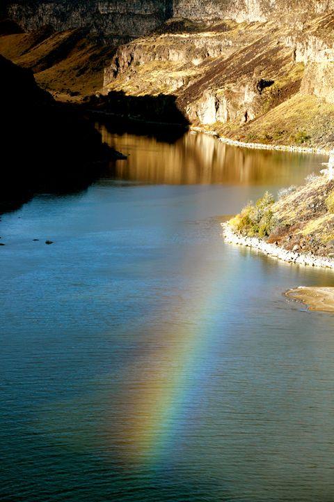 Rainbow over Water - Mark S Fine Art