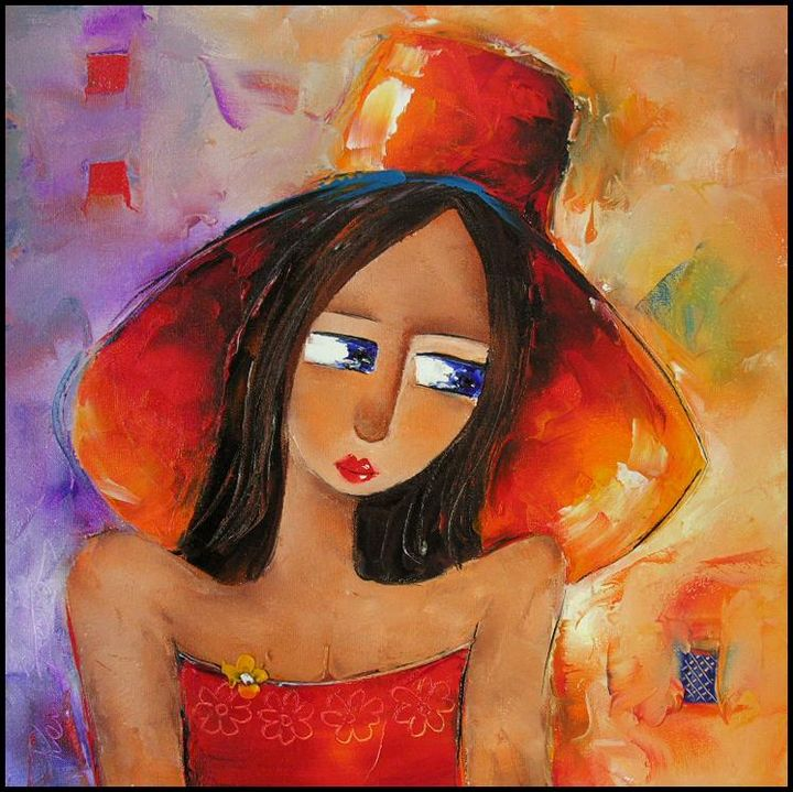 lady with hat - The Gallery Design