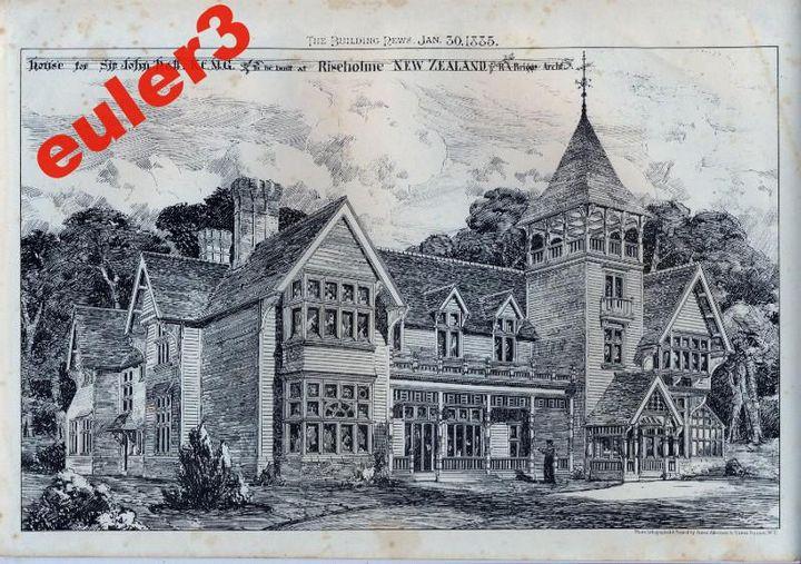 Sir John Halle Hall  1885 - The Gallery Design