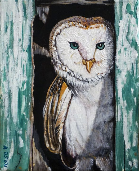 Barn Owl's Front Door - Rose Ananda Heart