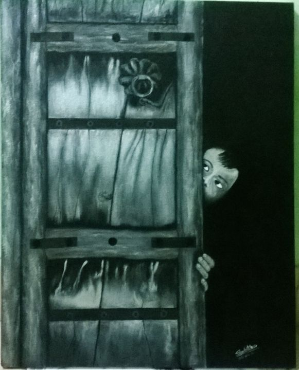 Lonely boy - painting gallery