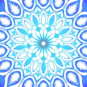 Blue spiral mandala