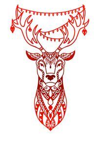 Christmas mandala reindeer