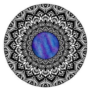Galaxy mandala design