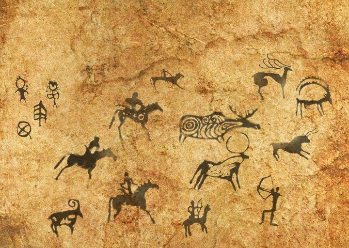 Rock cave paintings Ancient painting - Souvenir