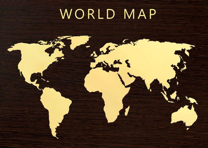 World map 3 - Souvenir