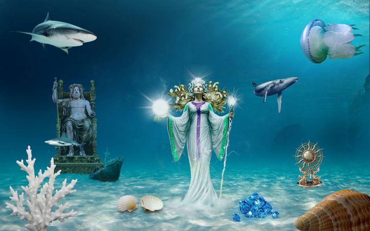 At the bottom of the sea. - Souvenir