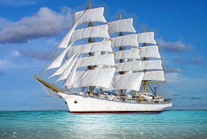 Sailing ship.  Pure dream. - Souvenir