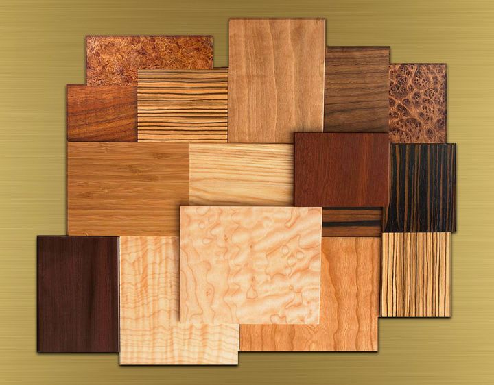 Samples of beautiful wood textures. - Souvenir