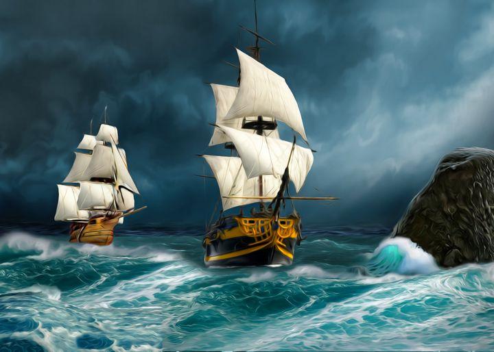 Ocean sea sail boat - Souvenir