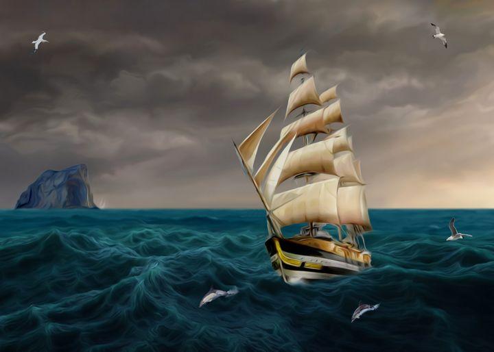 Homecoming ocean sea sail boat - Souvenir