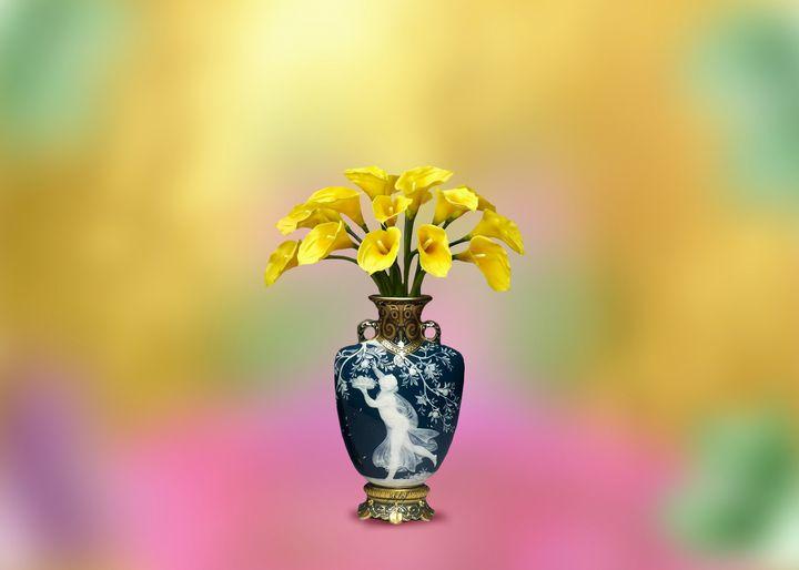Vase bouquet flower   romantic gold - Souvenir