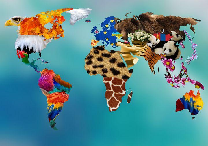 Aesthetic World Map - Souvenir