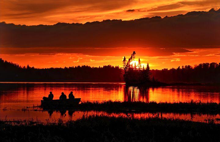 Canadian Sunset - FriendlyChimpArt