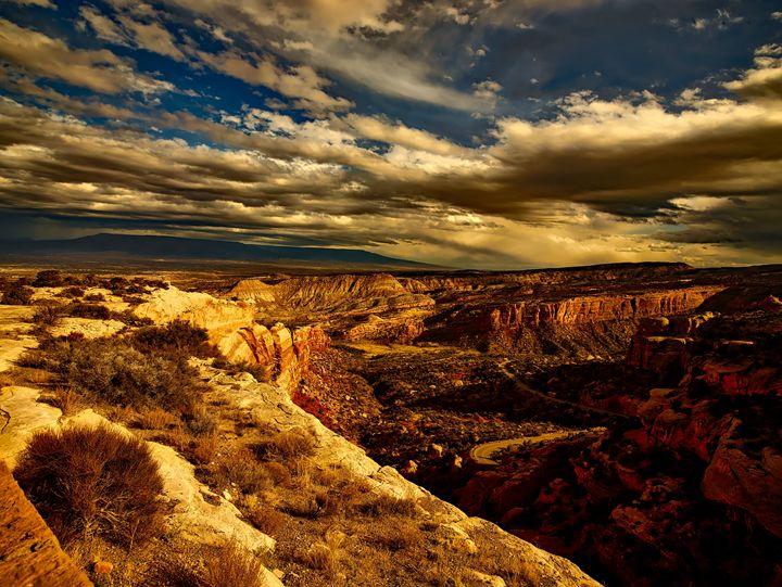 Colorado sunset - FriendlyChimpArt