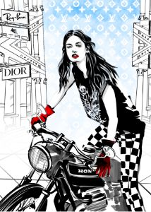 biker girl - ArtAbra
