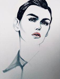 red lips - ArtAbra