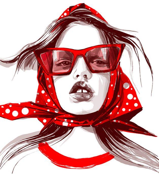 red glasses - ArtAbra