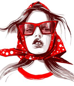 red glasses - ArtAbra