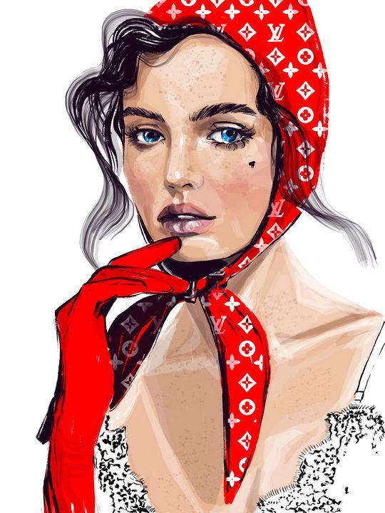 LV girl 2 - ArtAbra