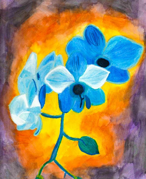 Blue orchids - Melanie N Creations