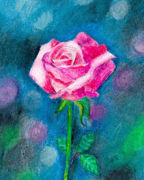 A pink rose - Melanie N Creations