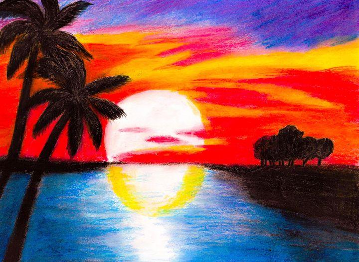 Tropical sunset - Melanie N Creations
