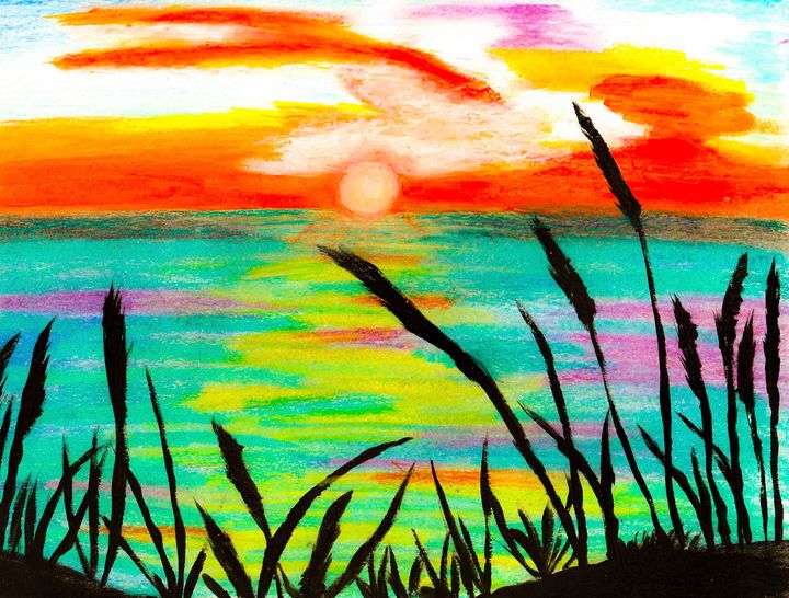 Sunset at the beach - Melanie N Creations