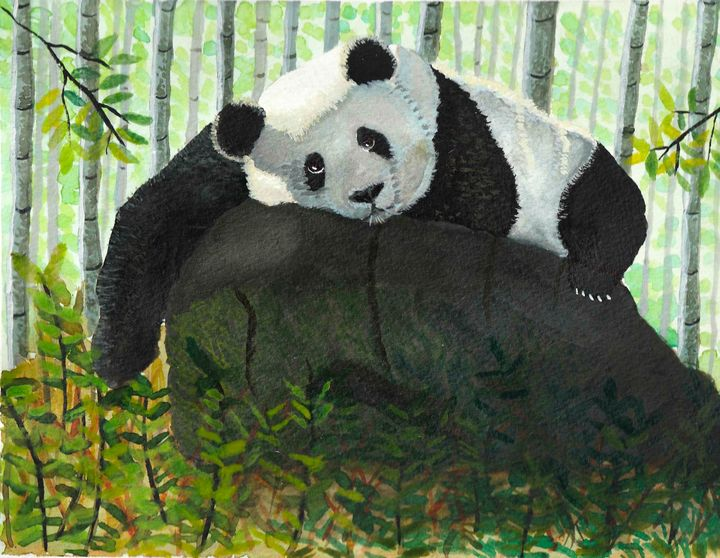 Panda in bamboo forest - Melanie N Creations