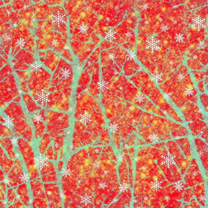 Winter wonderland abstract - Melanie N Creations