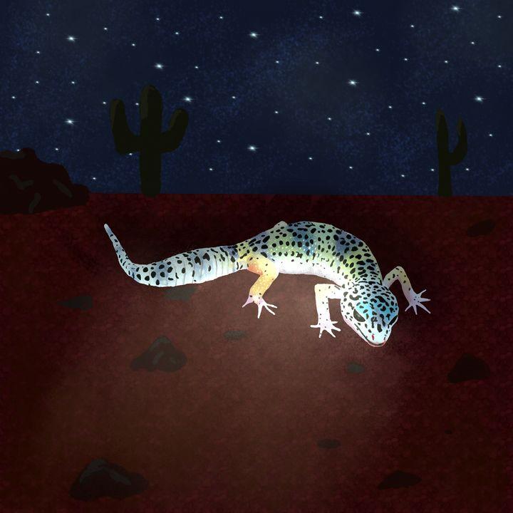 Rainbow colored gecko - Melanie N Creations