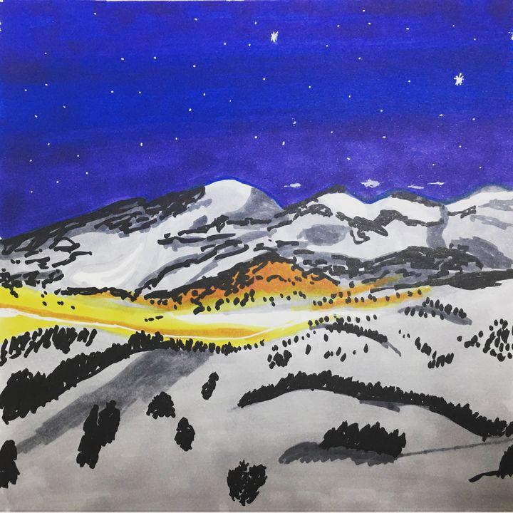 Snowy escape through the mountains u - Melanie N Creations