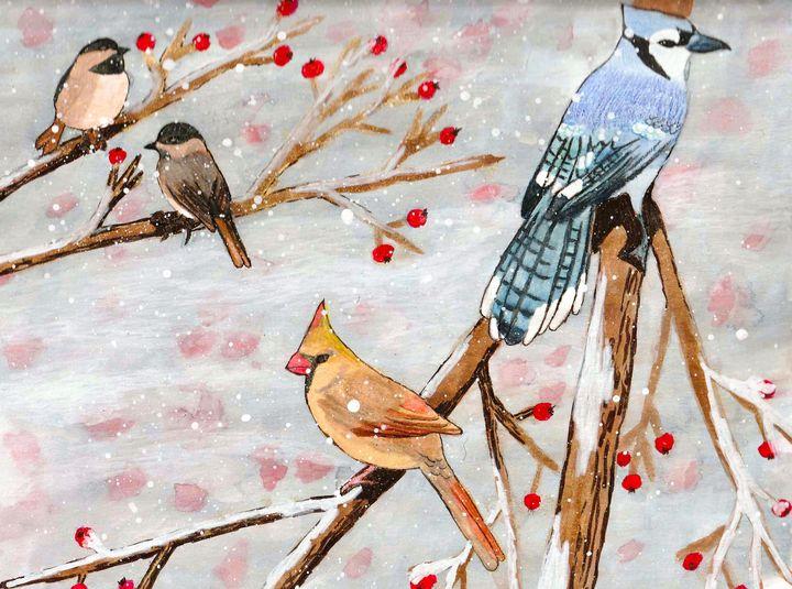 Birds in winter - Melanie N Creations