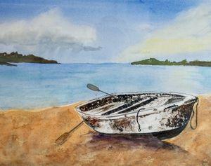 Row Boat Ashore