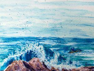 Surf on Rocky Shore - Fallen Branch Designs