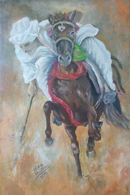 Afghan national game Nezabazi - Muntazer Arts