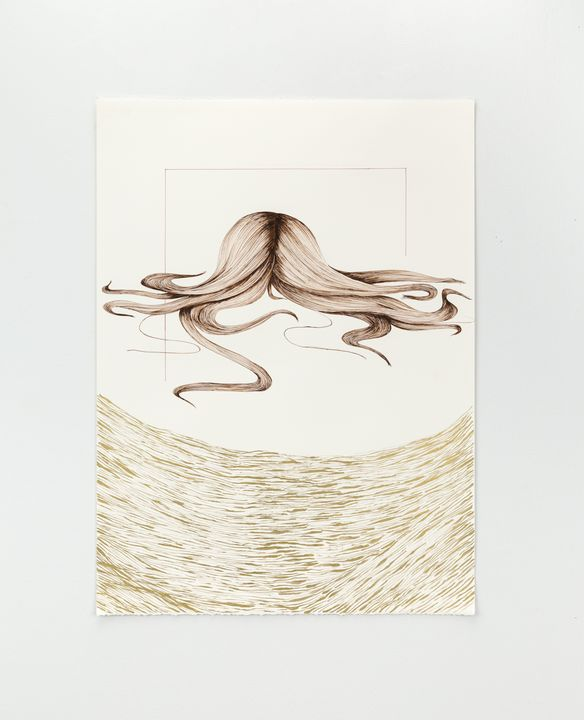 Floating over, Drawing, Art - Shokoufeh Alizadeh