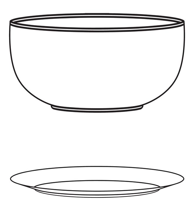 plate with bowl - Gyamfi
