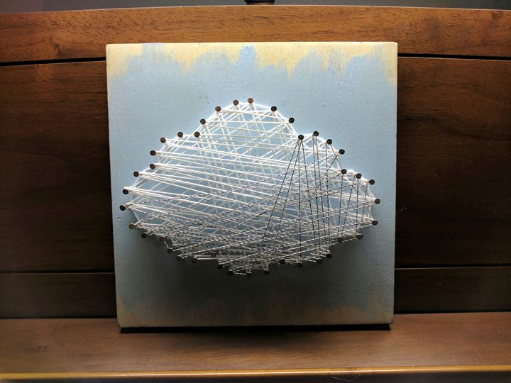 Cloud string art - Matthew Harris