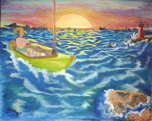 Bay Sunset fishing