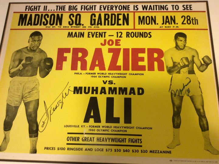 Ali vs Frazier 2 signed fight poster - Butchies Be¥ond Normal