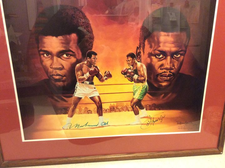 Ali&Frazier signed Ron Lewis Litho - Butchies Be¥ond Normal