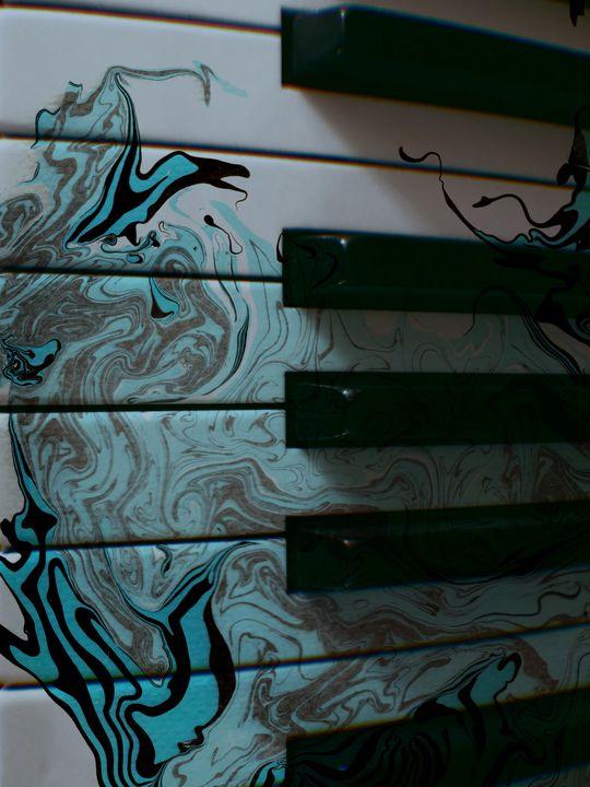 Piano Marbling Art Print - Lemuria Designs